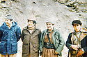 Iraq 1979 <br />  In Nawzang, from left to right, Omar Sheikhmous, Adel Murad and Mullazem Omar Abdallah <br />  Irak 1979 <br /> A Nawzang, de gauche a droite, Omar Sheikhmous, Adel Murad et Mullazem Omar Abdallah et un jeune peshmerga