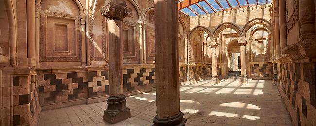 Main Hall in the Hareem of the 18th Century Ottoman architecture of the Ishak Pasha Palace (Turkish: İshak Paşa Sarayı) ,  Agrı province of eastern Turkey.