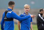 St Johnstone Training….19.08.20<br />Ali McCann pictured talking with Wallace Duffy during training at McDiarmid Park this morning ahead of tomorrow's re-arranged game against Aberdeen.<br />Picture by Graeme Hart.<br />Copyright Perthshire Picture Agency<br />Tel: 01738 623350  Mobile: 07990 594431