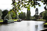 Pix: Shaun Flannery/shaunflanneryphotography.com...COPYRIGHT PICTURE>>SHAUN FLANNERY>01302-570814>>07778315553>>..11th September 2012..Canal boat on the canal at Nursery Lane, Sprotbrough, Doncaster..