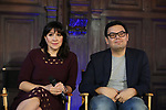 Kristen Anderson-Lopez and Robert Lopez attend the press day for 'Frozen' The Broadway Musical on February 13, 2018 at the Highline Hotel in New York City.
