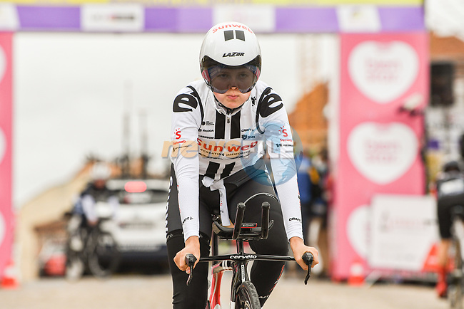 Team Sunweb recon the course before the start of Stage 2 of the CERATIZIT Challenge by La Vuelta 2020, an individual time trial running 9.3km around Boadilla del Monte, Spain. 6th November 2020.<br /> Picture: Antonio Baixauli López/BaixauliStudio | Cyclefile<br /> <br /> All photos usage must carry mandatory copyright credit (© Cyclefile | Antonio Baixauli López/BaixauliStudio)