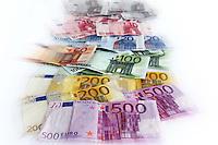 Still-life euro. Still-life euro money..