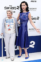 LOS ANGELES, CA - JULY 28: Ann Hudson and Katy Perry attend the premiere Of Columbia Pictures' 'Smurfs 2' at Regency Village Theatre on July 28, 2013 in Los Angeles, California.
