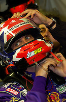 2/5/05 Daytona Beach, FL.Greg Biffle gets some help with his preperations for a late night stint behind the wheel of the #49 Ford/Multimatic..