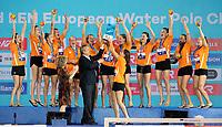 Team NED Team Netherlands<br /> Gold Medal<br /> Paolo Barelli LEN President<br /> Medal Ceremony<br /> Barcelona 27/07/2018 Piscines Bernat Picornell<br /> Women Final 5th - 6th Place<br /> 33rd LEN European Water Polo Championships - Barcelona 2018 <br /> Photo Pasquale Mesiano/Deepbluemedia/Insidefoto