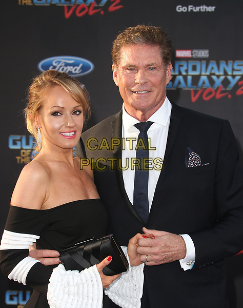 """HOLLYWOOD, CA - April 19: David Hasselhoff, Hayley Roberts, At Premiere Of Disney And Marvel's """"Guardians Of The Galaxy Vol. 2"""" At The Dolby Theatre  In California on April 19, 2017. <br /> CAP/MPI/FS<br /> ©FS/MPI/Capital Pictures"""