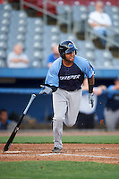 Trenton Thunder shortstop Cito Culver (23) at bat during the second game of a doubleheader against the Hartford Yard Goats on June 1, 2016 at Sen. Thomas J. Dodd Memorial Stadium in Norwich, Connecticut.  Trenton defeated Hartford 2-1.  (Mike Janes/Four Seam Images)
