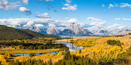 Oxbow autumn from above