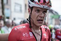 stage winner Jasper Stuyven's (BEL/Trek Segafredo) post-race face<br /> <br /> Binckbank Tour 2017 (UCI World Tour)<br /> Stage 7: Essen (BE) > Geraardsbergen (BE) 191km