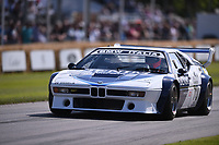 9th July 2021;  Goodwood  House, Chichester, England; Goodwood Festival of Speed; Day Two; Sam Hancock drives a 1979 BMW M1 Procar in the Goodwood Hill Climb