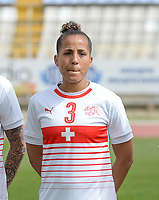 20180305 - LARNACA , CYPRUS : Swiss Caroline Muller pictured during a women's soccer game between Switzerland and Wales , on monday 5 March 2018 at GSZ Stadium in Larnaca , Cyprus . This is the third game in group A for Switzerland and Wales during the Cyprus Womens Cup , a prestigious women soccer tournament as a preparation on the World Cup 2019 qualification duels. PHOTO SPORTPIX.BE | DAVID CATRY