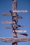 West Beach Resort, Orcas Island, San Juan Islands, Washington State, Pacific Northwest, weathered, driftwood sign,.