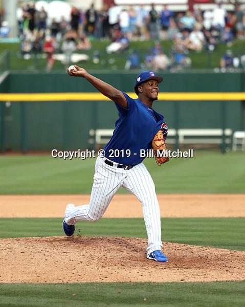 Oscar De La Cruz - Chicago Cubs 2019 spring training (Bill Mitchell)