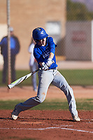 Jacobi Padilla (49), from Clayton, California, while playing for the Dodgers during the Under Armour Baseball Factory Recruiting Classic at Gene Autry Park on December 30, 2017 in Mesa, Arizona. (Zachary Lucy/Four Seam Images)