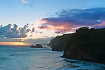 USA, HI, Kohala, Pololu Valley Sunrise