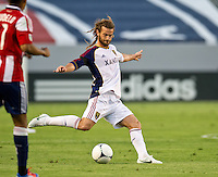 CARSON, CA - June 16, 2012: Real Salt Lake midfielder Kyle Beckerman (5) during the Chivas USA vs Real Salt Lake match at the Home Depot Center in Carson, California. Final score Real Salt Lake 3, Chivas USA 0.