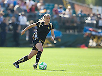 Carrie Dew. FC Gold Pride defeated the Boston Breakers, 2-1, in their home opener on April 5, 2009 at Buck Shaw Stadium in Santa Clara, CA.