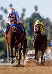 ARCADIA, CA - FEBRUARY 04: Dream Tree #3 with Drayden Van Dyke wins the Las Virgines Stakes at Santa Anita Park on February 4, 2018 in Arcadia, California. (Photo by Alex Evers/Eclipse Sportswire/Getty Images)