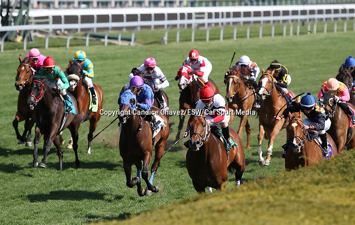 April 12, 2014: Marchman and jockey Robby Albarado win the 18th running of The Shakertown Grade 3 $100,000 at Keeneland racecourse for owner Martin Racing stable and trainer W. Bret Calhoun .  Candice Chavez/ESW/CSM