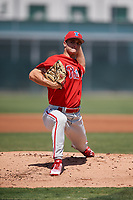 Philadelphia Phillies pitcher Nick Fanti (64) during a Minor League Extended Spring Training game against the Pittsburgh Pirates on May 3, 2018 at Pirate City in Bradenton, Florida.  (Mike Janes/Four Seam Images)