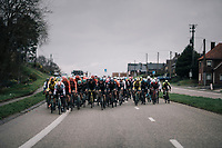wide peloton charging down towards the Kanarieberg<br /> <br /> 71th Kuurne-Brussel-Kuurne 2019 <br /> Kuurne to Kuurne (BEL): 201km<br /> <br /> ©kramon