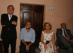 MICHELE SANTORO CON CLAUDIO PETRUCCIOLI, STEFANIA CRAXI E GIUSEPPE DE RITA<br /> PREMIO LETTERARIO CAPALBIO 2003