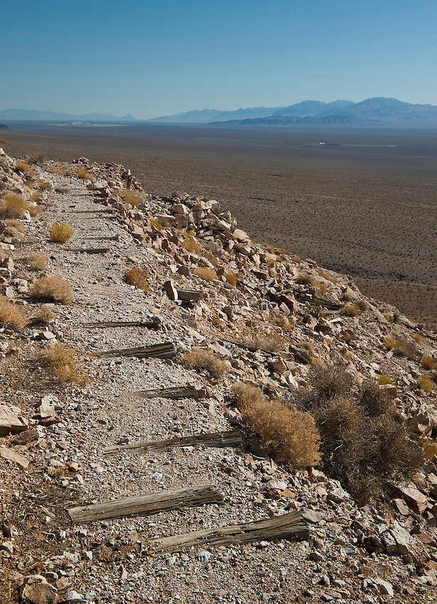 Path to an abandoned mine in Nevada.