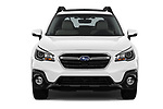 Car photography straight front view of a 2018 Subaru Outback Premium 5 Door Wagon