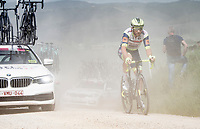 """dusty on the first gravel sector of the stage<br /> <br /> 104th Giro d'Italia 2021 (2.UWT)<br /> Stage 11 from Perugia to Montalcino (162km)<br /> """"the Strade Bianche stage""""<br /> <br /> ©kramon"""