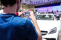 SAO PAULO, SP, 30.10.2014 - ABERTURA SALAO AUTOMOVEL -  Movimentacao do 28ø Salão Internacional do Automovel no Anhembi na regiao norte de Sao Paulo, nesta quinta-feira, 30. (Foto: Vanessa Carvalho / Brazil Photo Press).