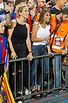 Antonella Roccuzzo  and Luis Suarez wife during the match of  Copa del Rey (King's Cup) Final between Deportivo Alaves and FC Barcelona at Vicente Calderon Stadium in Madrid, May 27, 2017. Spain.. (ALTERPHOTOS/Rodrigo Jimenez)