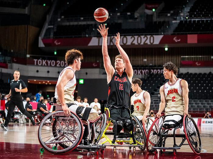 Patrick Anderson, Tokyo 2020 - Wheelchair Basketball // Basketball en fauteuil roulant.<br /> Canada takes on Japan in a men's preliminary game // Le Canada affronte le Japon dans un match préliminaire masculin. 28/08/2021.