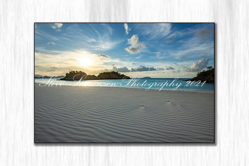 Trunk Bay during the pandemic 2020<br /> no footprints on the sand