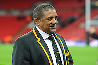 Allister Coetzee, South Africa Head Coach, during the Killik Cup match between Barbarians and South Africa at Wembley Stadium on Saturday 5th November 2016 (Photo by Rob Munro)