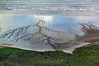 aerial photograph of mud flats, Panama Bay at the shoreline of Panama City, Panama | fotografía aérea de las marismas, Bahía de Panamá en la costa de Panamá