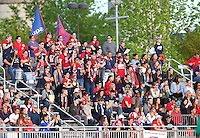 Boyds, MD - Saturday May 07, 2016: Washington Spirit fans during a regular season National Women's Soccer League (NWSL) match at Maureen Hendricks Field, Maryland SoccerPlex. Washington Spirit tied the Portland Thorns 0-0.