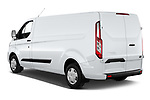 Car pictures of rear three quarter view of 2021 Ford Transit-Custom Trend 4 Door Cargo Van Angular Rear
