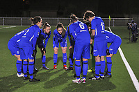 team KRC Genk pictured before a female soccer game between  Racing Genk Ladies and Eendracht Aalst on the 15 th matchday of the 2020 - 2021 season of Belgian Scooore Womens Super League , friday 5 th of March 2021  in Genk , Belgium . PHOTO SPORTPIX.BE   SPP   STIJN AUDOOREN