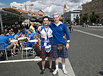 FK Trakai v St Johnstone…05.07.17… Europa League 1st Qualifying Round 2nd Leg<br />Saints fans in Vilnius ahead of kick off, from left, Ruari and Blair Kaylor<br />Picture by Graeme Hart.<br />Copyright Perthshire Picture Agency<br />Tel: 01738 623350  Mobile: 07990 594431