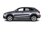 Car driver side profile view of a 2018 Audi Q3  2.0T-FWD-tiptronic-Premium-Plus  5 Door SUV