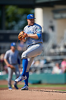 Lexington Legends starting pitcher Jonathan Bowlan (35) during a South Atlantic League game against the Augusta GreenJackets on April 30, 2019 at SRP Park in Augusta, Georgia.  Augusta defeated Lexington 5-1.  (Mike Janes/Four Seam Images)