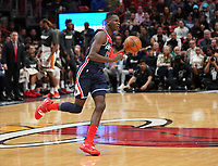 Isaac Bonga (G/F, Washington Wizards, #17) am Ball - 22.01.2020: Miami Heat vs. Washington Wizards, American Airlines Arena