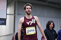 WINSTON-SALEM, NC - FEBRUARY 08: Peter Seufer #6 of Virginia Tech University set a new collegiate facility record with a time of 7:53.72 in the Men's Camel City Elite 3000 Meters at JDL Fast Track on February 08, 2020 in Winston-Salem, North Carolina.