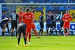 Jubel nach dem Sieg beim Waldhof beim Spiel in der 3. Liga, SV Waldhof Mannheim - FSV Zwickau.<br /> <br /> Foto © PIX-Sportfotos *** Foto ist honorarpflichtig! *** Auf Anfrage in hoeherer Qualitaet/Aufloesung. Belegexemplar erbeten. Veroeffentlichung ausschliesslich fuer journalistisch-publizistische Zwecke. For editorial use only. DFL regulations prohibit any use of photographs as image sequences and/or quasi-video.