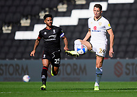 Lincoln City's Liam Bridcutt vies for possession with Milton Keynes Dons' Jordan Houghton<br /> <br /> Photographer Chris Vaughan/CameraSport<br /> <br /> The EFL Sky Bet League One - Milton Keynes Dons v Lincoln City - Saturday 19th September 2020 - Stadium MK - Milton Keynes<br /> <br /> World Copyright © 2020 CameraSport. All rights reserved. 43 Linden Ave. Countesthorpe. Leicester. England. LE8 5PG - Tel: +44 (0) 116 277 4147 - admin@camerasport.com - www.camerasport.com