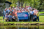 Breast cancer survivors and their River Buddies pose for photos during the the Casting for Recovery fishing clinic at Bently Ranch in Gardnerville, Nev. May 4, 2018.<br /> Photo by Candice Vivien/Nevada Momentum