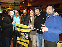 Photo: Richard Lane/Richard Lane Photography. RC Toulon v Wasps.  European Rugby Champions Cup. 17/01/2016. Wasps supporters.