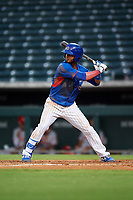 AZL Cubs 2 Josue Huma (13) at bat during an Arizona League game against the AZL Reds on July 23, 2019 at Sloan Park in Mesa, Arizona. AZL Cubs 2 defeated the AZL Reds 5-3. (Zachary Lucy/Four Seam Images)