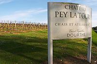 vineyard the sign chateau pey la tour bordeaux france